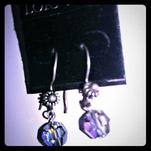 Lori Lori champagne Swarovski Crystal earrings